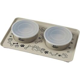 5 Piece Large Non-Slip Lock Dog Dish/Tray thumb