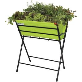 "24"" x 15"" Lime Green Raised Folding Poppy Planter thumb"