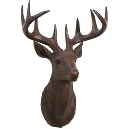 "20"" Brown Deer Head Wall Mount Decoration thumb"