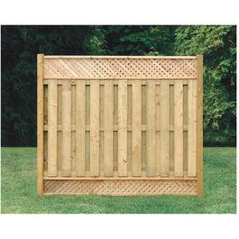 "6' 4"" Pressure Treated Top & Bottom Lattice Fence Package thumb"