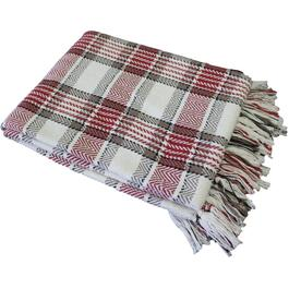 "50"" x 60"" Highland Red Herringbone Check Accent Throw thumb"