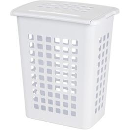 "19"" x 22"" White Laundry Hamper thumb"
