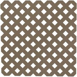 4' x 8' Dark Brown Diamond Vinyl Privacy Lattice thumb