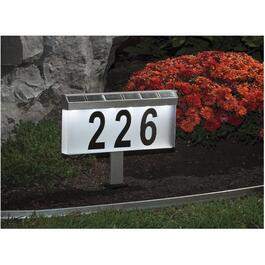 "Stainless Steel Solar Sign Kit, with 4"" Letters thumb"