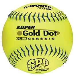 "12"" Yellow Gold Dot Softball thumb"