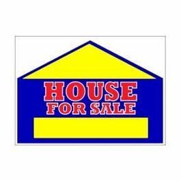 "19"" x 24"" 2 Sided House For Sale Sign thumb"