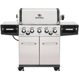 Regal S590 Pro 5 Burner + 1 Side Burner + 1 Rear Rotisserie Burner 875 sq. in. 50,000BTU Natural Gas Barbecue thumb