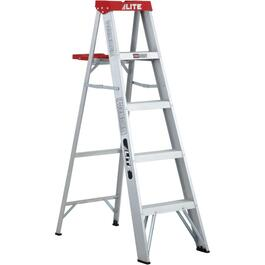 5' #3 Aluminum Step Ladder, with Paint Tray thumb