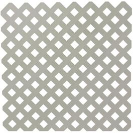 4' x 8' Grey Diamond Vinyl Privacy Lattice thumb