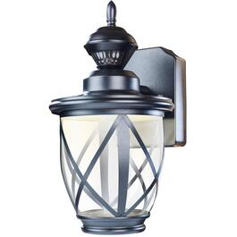 Allure Black Outdoor Coach Integrated LED Light Fixture, with 150 Degree Motion Sensor thumb