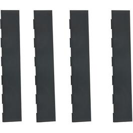 4 Pack Black PVC Straight Floor Edging thumb