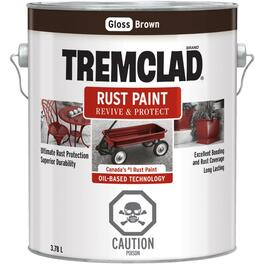 3.78L Gloss Brown Alkyd Rust Paint thumb