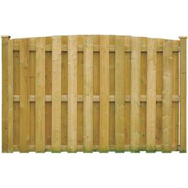 6' Pressure Treated Convex Top Board On Board Fence Package thumb