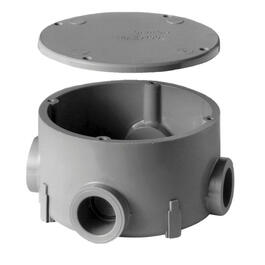 "4"" x 3/4"" Round PVC Conduit Box thumb"