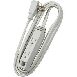 2M SPT3 16/3 White Extension Cord with Angle Plug thumb
