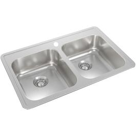 "32"" x 21"" x 8"" Stainless Steel Double Drop In Kitchen Sink thumb"