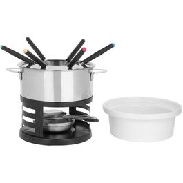 10 Piece Stainless Steel 3 In 1 Lotto Fondue Set thumb