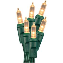 50 LED Clear M5 Mini Vintage Light Set, with Green Wire thumb