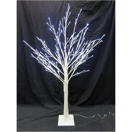 5' Indoor/Outdoor White Trunk Twig Tree, with 192 LED Twinkle Lights thumb