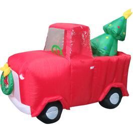 5' Truck Outdoor Airblown Inflatable Figure, with Tree thumb
