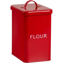 Red Enamel Bilingual Flour Canister thumb