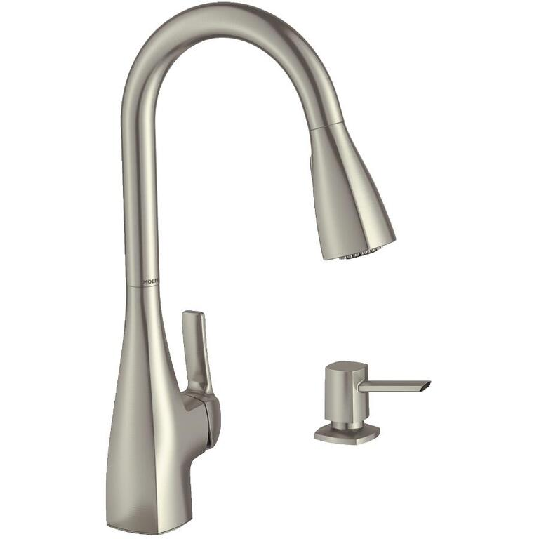 Moen Kiran Stainless Steel Pulldown Kitchen Faucet With Soap
