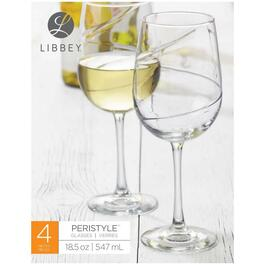 4 Pack 18.5oz Peristyle White Wine Stemware thumb