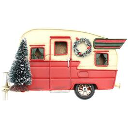 "14"" x 10"" Christmas Trailer Metal Wall Plaque thumb"