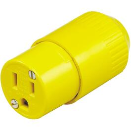 3 Wire 15 Amp 125V Yellow Electrical Connector thumb