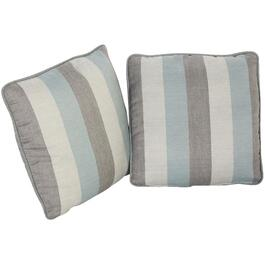 "2 Pack 16 x 16"" Bahamas Striped Throw Pillows thumb"