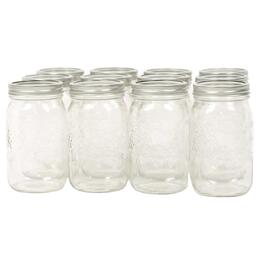 12 Pack 1L Wide Mason Jars thumb