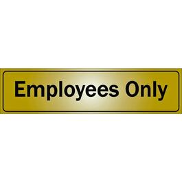 "2"" x 8"" Metal Stick On Employees Only Sign thumb"