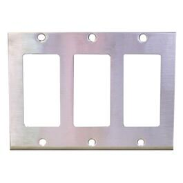 Stainless Steel 3 Device Switch Plate thumb