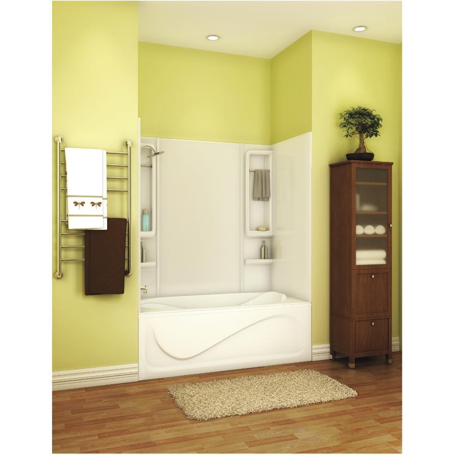 "maax 59"" finesse white acrylic tub wall - home hardware canada"