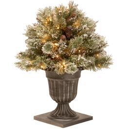"26"" Glitter Pine Potted Arrangement, with 50 Battery Operated LED Lights thumb"