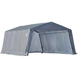 12' x 20' x 8' Peaked Roof Garage-In-A-Box Shed thumb