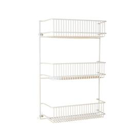 "13"" x 13"" x 3"" 3 Tier White Wire Spice Rack thumb"