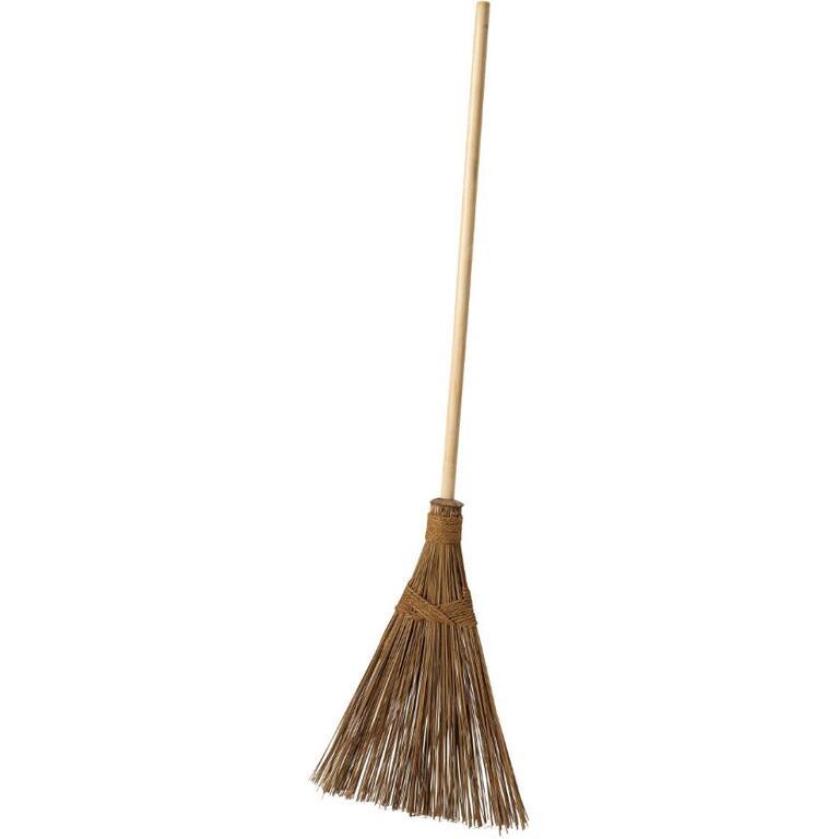Garden Broom with Wood Handle