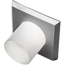 Satin Chrome and Frosted Square Stylish Magnetic Cover for Existing Recessed Lights thumb