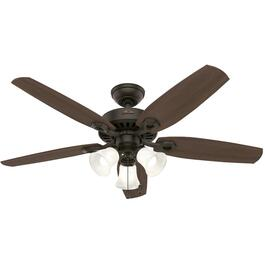 "Hinnman 52"" 5 Blade New Bronze Ceiling Fan with LED Lighting thumb"