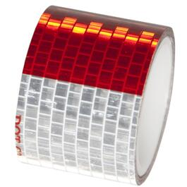 "1-1/2"" x 48"" Red and Silver Reflective Tape thumb"