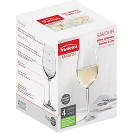 4 Pack 12.5oz White Savour Wine Stemware Set thumb