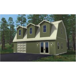 24' x 32' x 8' Hobby Barn Farm Building Package, with Dormer thumb