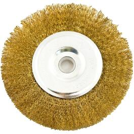 "5"" x 1/2"" x 1/2"" Fine Buffing Wire Wheel thumb"