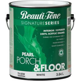 3.64L White Base Interior/Exterior Porch & Floor Latex Paint thumb