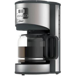 12 Cup Black/Stainless Steel Cone Coffee Maker, with Timer thumb