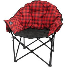 Red/Black Plaid Adult Lazy Bear Camp Chair thumb
