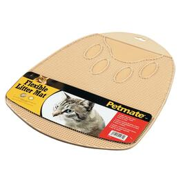 "17"" x 14"" Flexible Cat Litter Mat, Assorted Colours thumb"