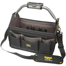 "15"" Open Top Soft Sided LED Lighted Tool Bag, with 22 Pockets thumb"