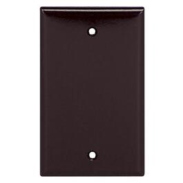 Blank Brown 1 Device Receptacle Plate thumb